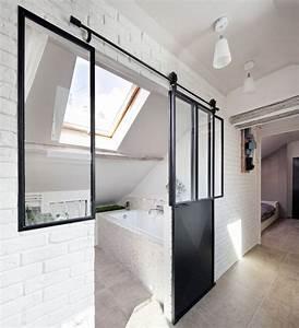 Salle De Bain Style Atelier : verri re int rieure 12 photos pour cloisonner l 39 espace avec style c t maison ~ Teatrodelosmanantiales.com Idées de Décoration