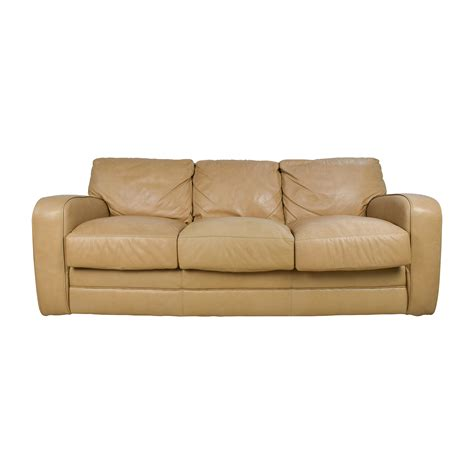 second settee 78 beige three seat leather sofa sofas