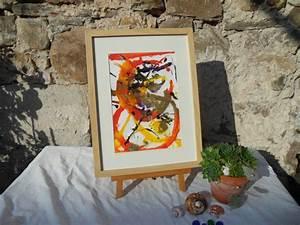 Flüssig Acryl Reparaturset : acrylmalerei bild gold orange bilderrahmen ein designerst ck von atelier melanie landgraf ~ Eleganceandgraceweddings.com Haus und Dekorationen