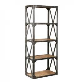 Industrial Bookcases industrial reclaimed narrow bookcase zin home salvaged
