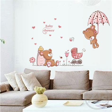 sticker ourson chambre bébé lovely wall stickers children room home decor