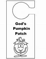 Door Knob Hanger God Template Hangers Pumpkin Coloring Doorknob Pages Patch Sunday Christian Crafts Children sketch template