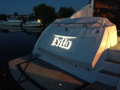 Stainless Steel Boat Lettering Uk by Stainless Steel Illuminated Boat Names