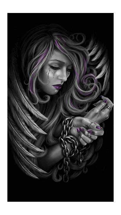 Angel Dark Fantasy Angels Fallen Chain Zapisano