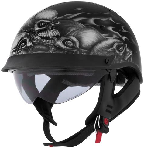 skull motocross helmet cyber helmets u 72 skull pile graphics half motorcycle
