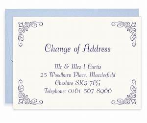 corner fleur letterpress change of address cards blush With change of address announcements postcards