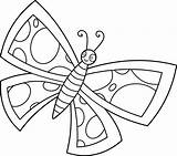 Clip Butterfly Butterflies Clipart Line Cute Coloring Cartoon Drawing Pages Cliparts Sweetclipart Funny Spotted Library Colorable Easy Insects Transparent 2524 sketch template