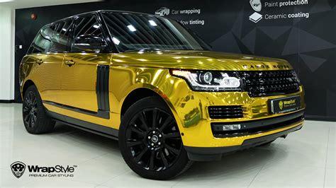 black and gold range rover galerie polepy aut autofólie tónování autoskel