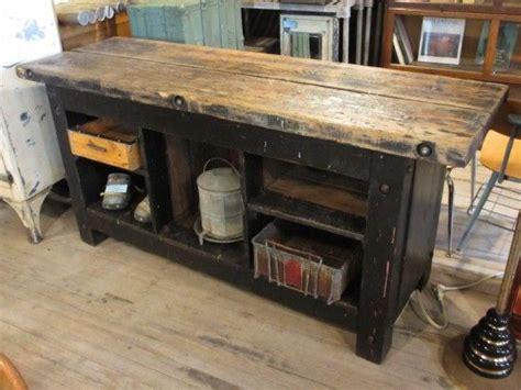 early  solid wood workbench letterpress
