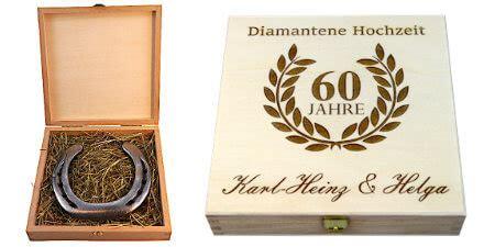 geschenke zur diamantenen hochzeit glueckshufeisende