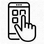 Mobile App Icon Phone Smartphone Touch Icons
