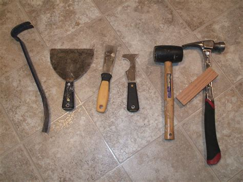linoleum flooring tools tools you will need to remove vinyl floor