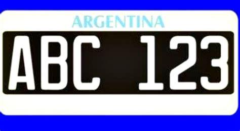 mira como fue la evolucion de las patentes argentinas