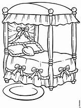 Bed Coloring Pages Para Colorear Cama Printable September sketch template