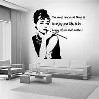 great audrey hepburn wall decals Audrey Hepburn Quote celebrity vinyl Wall Stickers Art ...