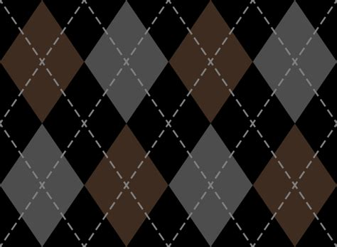 Black And Brown by Black And Brown And Gray Argyle Pattern Texture Pattern