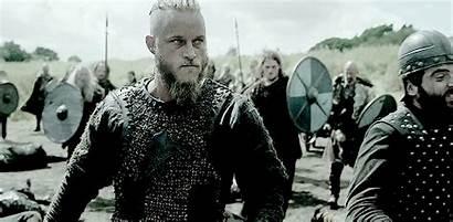 Ragnar Vikings Battle Lands Reddened Sword Many