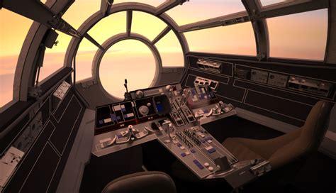screen accurate millennium falcon cockpit cg model page