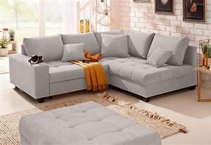 Sofa Home Affaire : home affaire ecksofa greenwich unifarben mit feiner steppung wahlweise mit bettfunktion ~ Orissabook.com Haus und Dekorationen