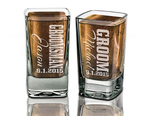 Groomsmen Gifts Wedding Shot Glasses Best Man Father Of The