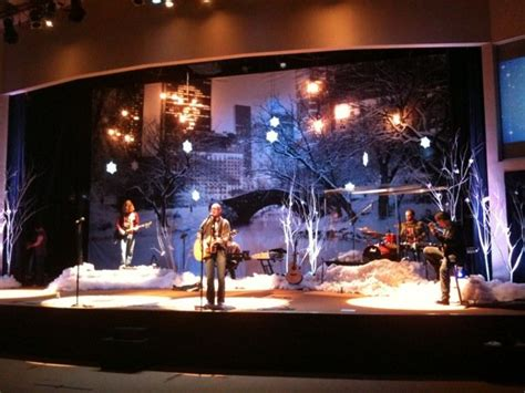 christmas   lake church stage design ideas