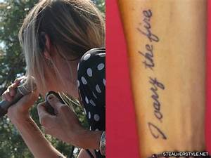 Juliet Simms Writing Forearm Tattoo | Steal Her Style
