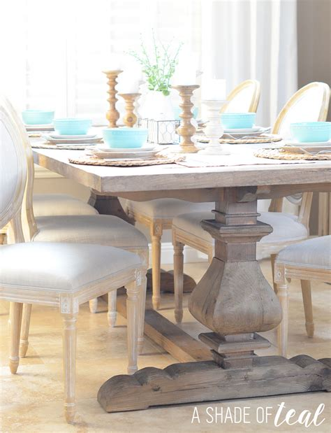 modern rustic dining table update  urban home