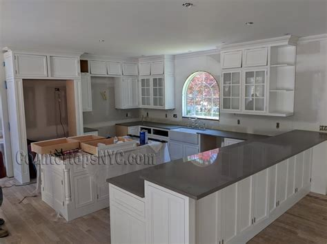 What To Do With White Kitchen Cabinets by Best Color Quartz With White Cabinets Countertops Nyc