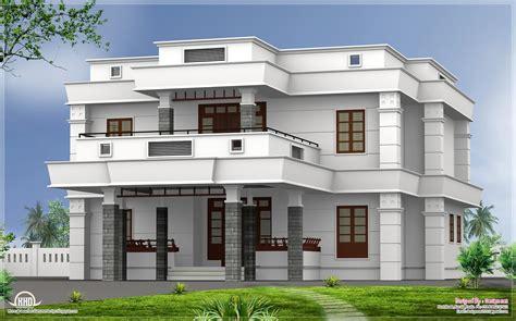 5 bhk modern flat roof house design home kerala plans