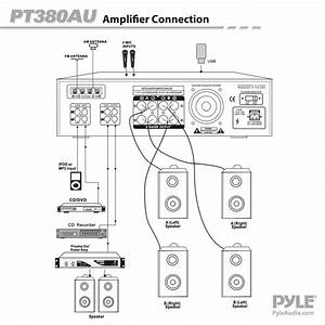 New Pyle Pt380au 200 Watt Digital Home Stereo Receiver