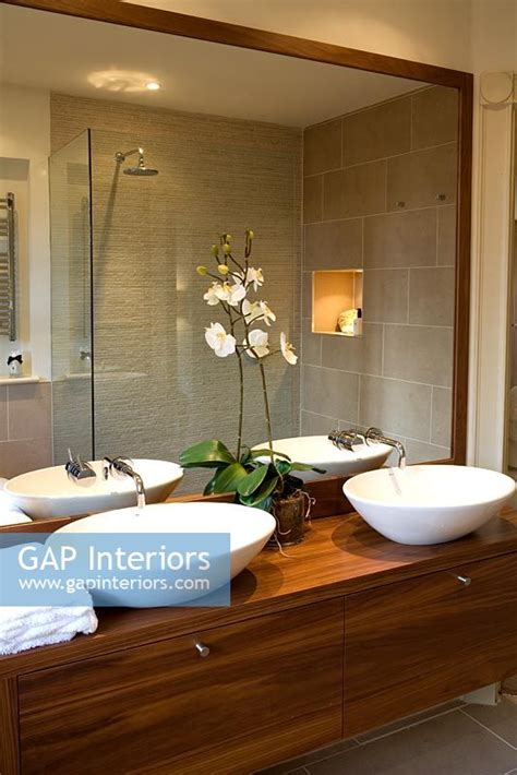 Contemporary Bathroom Mirrors Images by Gap Interiors Contemporary Bathroom Seen In Mirror