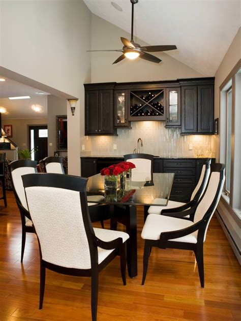 24+ Black And White Dining Room Designs  Dining Room
