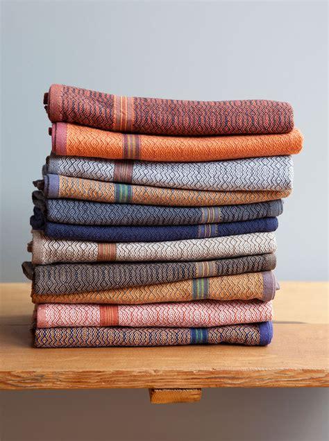 Kitchen Towel by Mungo Boma Cloth White Rust Cotton Kitchen Towel