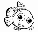 Fish Coloring Colouring Getdrawings Template sketch template