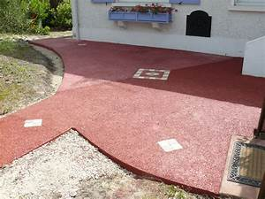 terrasse en beton drainant colore With wonderful revetement tour de piscine 11 drainant qualipermea