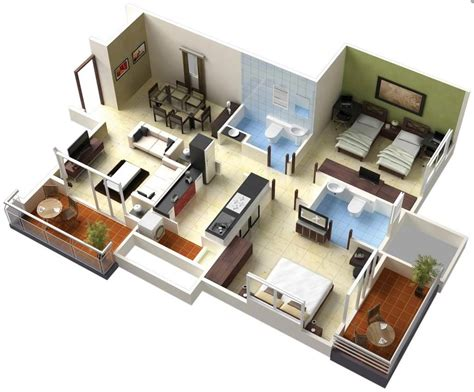 bedroom houseapartment floor plans home design