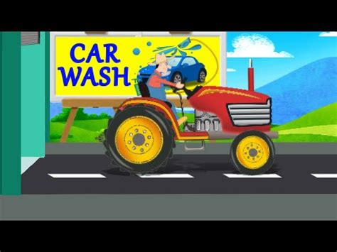 for kids car wash tractors for kids with blippi the tractor song doovi