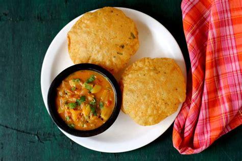 Masala Poori Spicy Puri With Masala Bhaji  Tikhi Puri Recipe