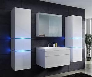 Badezimmer Set Günstig : kaufexpert badm bel set prestige wei hochglanz lackiert ~ Watch28wear.com Haus und Dekorationen