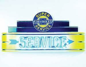 Chevy Parts Sign Neon Marquee Chevrolet Service