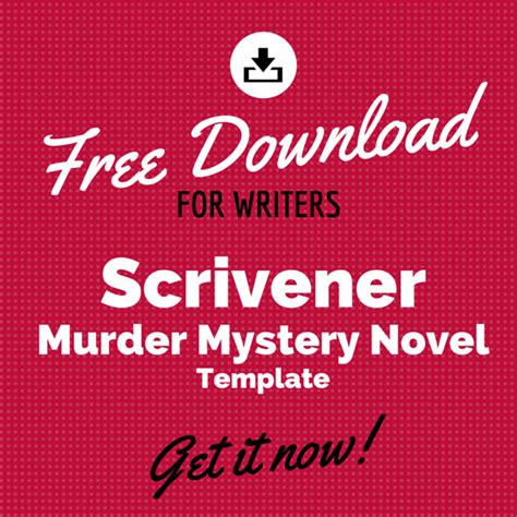 mystery novel outline template free scrivener murder mystery novel template