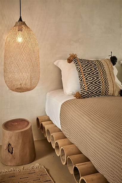 Slaapkamer Bohemian Ibiza Interieur Inrichting Beige Afbeeldingen