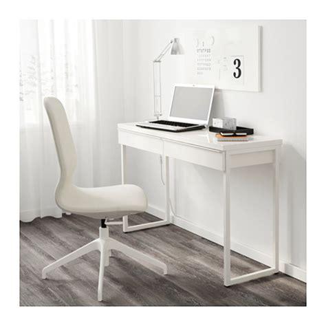 Ikea Besta Burs Office Desk With 2 Drawers In White Ebay