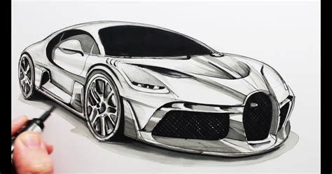 So, draw the body beginning at the bottom with a very low ground clearance and very short overhangs. Bugatti Divo Outline - Supercars Gallery