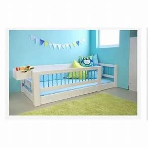 Lit D Enfant Avec Barrière : lit enfant bas kubu blanc bambins d co ~ Premium-room.com Idées de Décoration