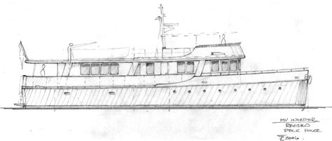 wooden motor yacht invader redesign refit  repair management services tad roberts