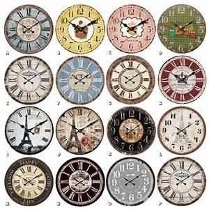 Wohnzimmer Uhren Stehend : wanduhr uhren dekouhr vintage holz 34cm shabby romantik landhaus retro paris wohnzimmer ~ Indierocktalk.com Haus und Dekorationen