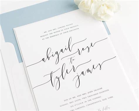 Romantic Calligraphy Wedding Invitations-wedding