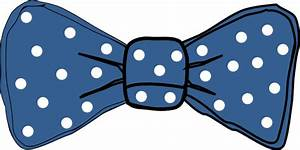 Bow Tie Blue With White Dots Clip Art at Clker.com ...