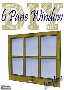 Free plans and tutorial to build a DIY 6 pane window frame ...
